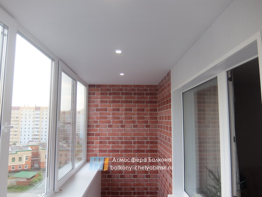 Потолок и свет на лоджии