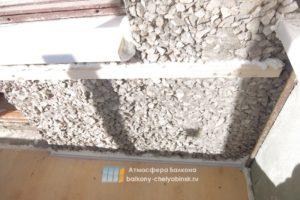 Выравнивание стен балкона