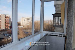 Новые рамы на балконе