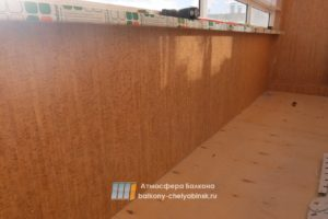 Отделка балкона ламинированной панелью