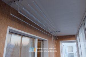 Монтаж сушилки на балконе
