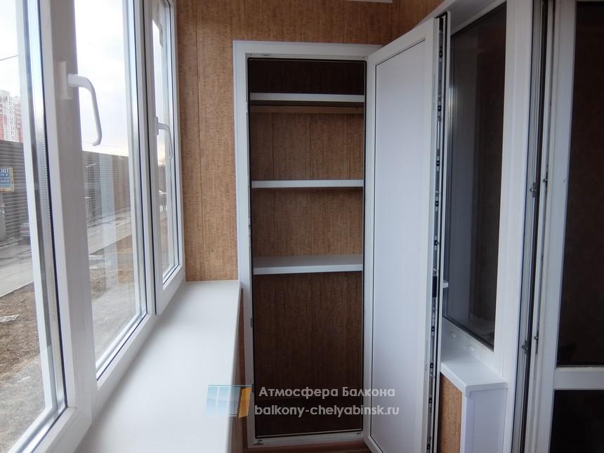 Полки на балконе и шкаф