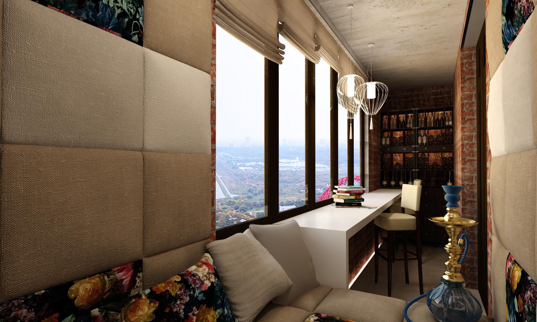 Кальянная в квартире на балконе