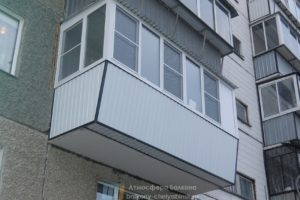 Расширение балкона по низу с выносом вперед