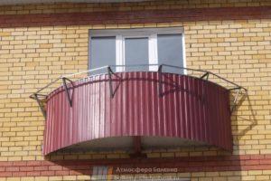 Вынос балкона полукругом