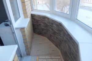 Ремонт на круглом балконе