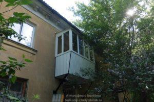 Теплый балкон с обшивкой профнастилом