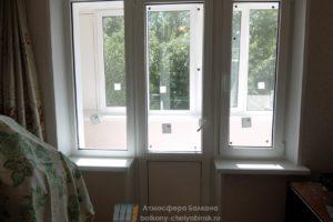 Балконный блок с двумя окнами