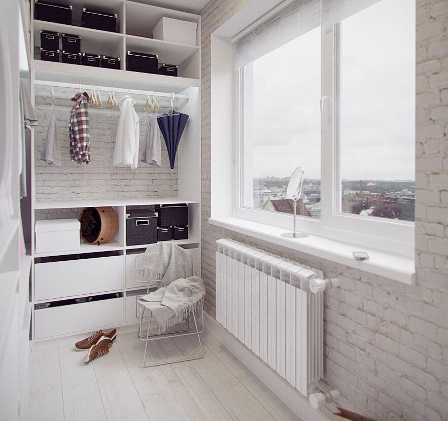 Ниши для хранения на балконе