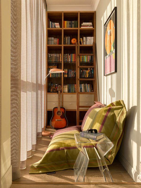 Книжная комната на балконе