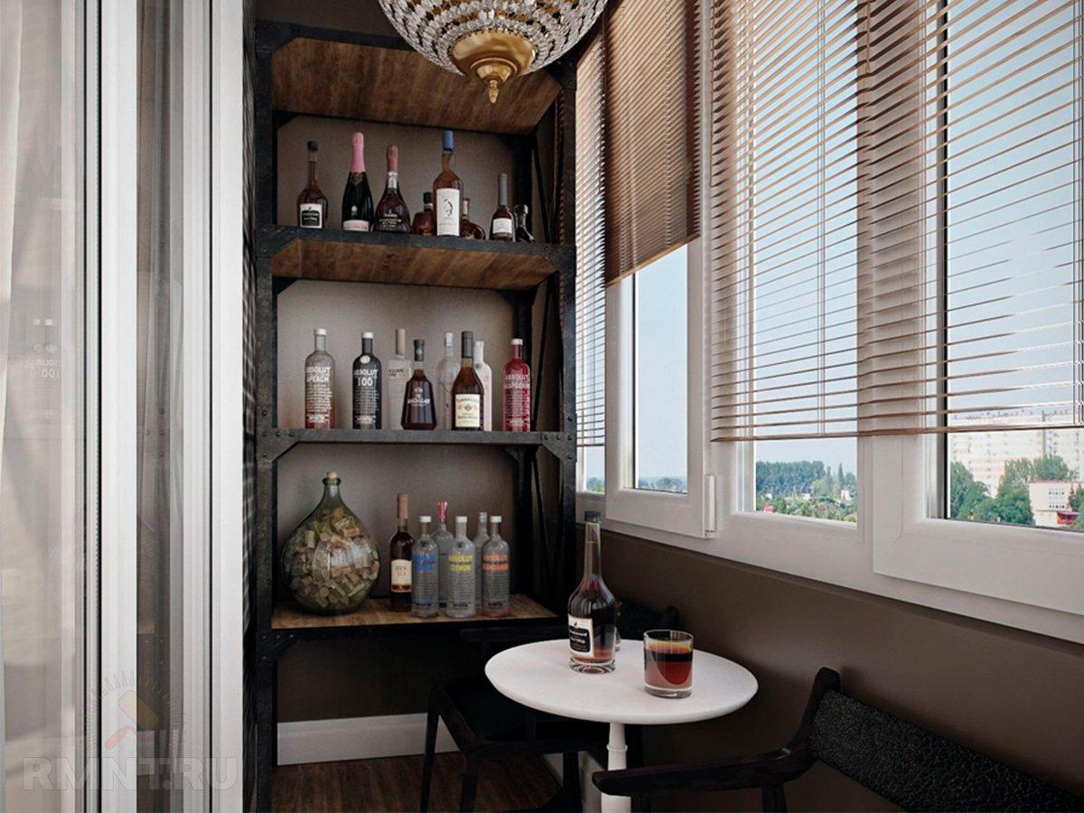 Мини-бар на балконе