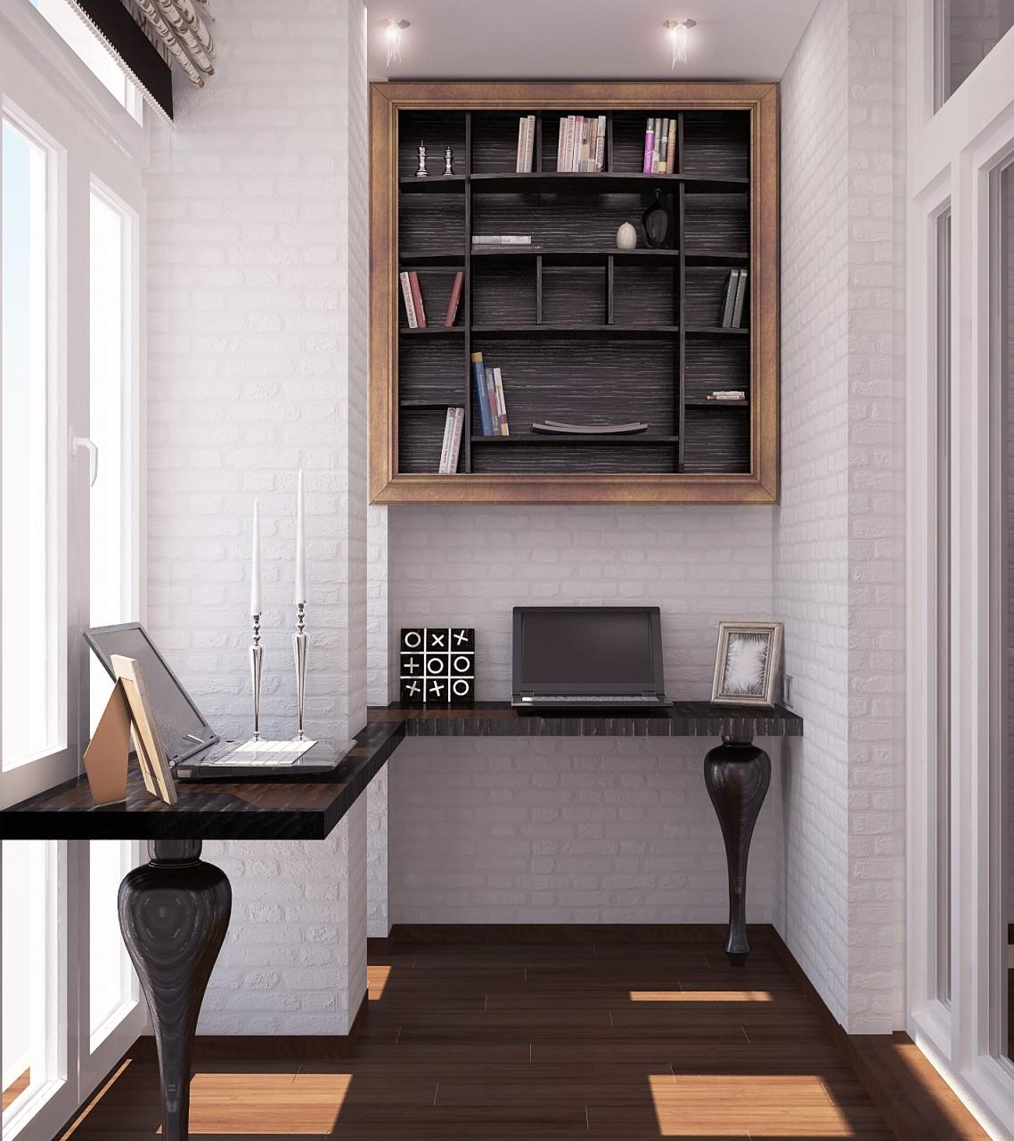 Идеи для балкона - кабинет